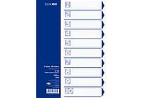 Разделитель пластиковый А4 Economix E30803, 10 разделов, цветной