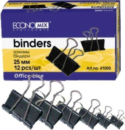 Биндер Economix E41006 32 мм черный 12 шт в карт. упаковке /ЦЕНА ЗА УПАКОВКУ/