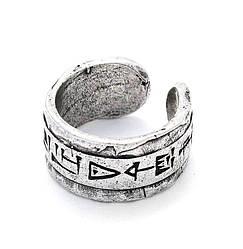 Кольцо разъемное этническое под серебро Код Хаммурапи 18 р.