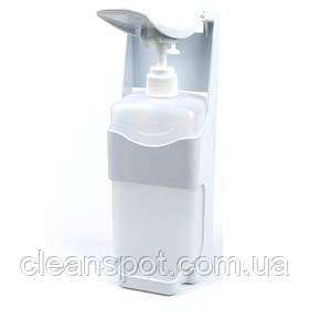 Ліктьовий диспенсер дозатор тримач для мила та антисептика з 1л флаконом