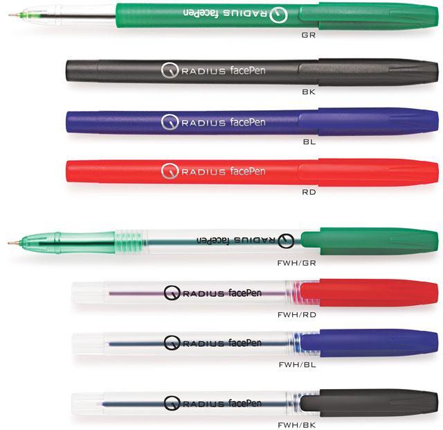 Ручка масляная Radius FacePen синяя (50/1)