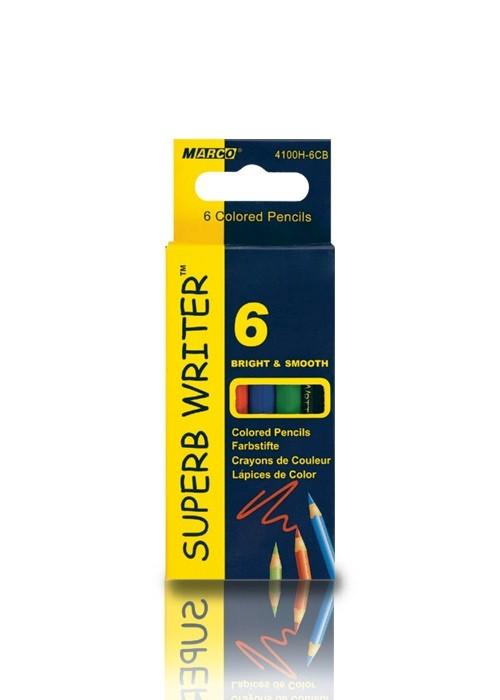Карандаши цветные 6 цветов Marco Superb Writer mini 4100H-6CB (48 шт в уп)