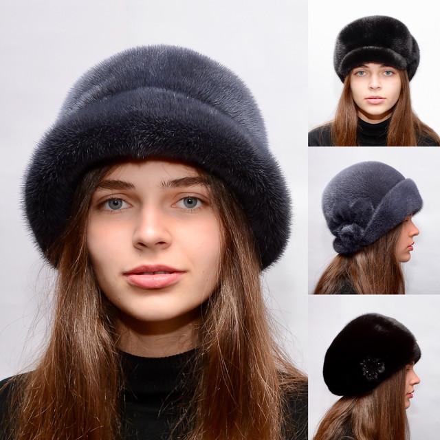 Женские модные норковые береты,шляпы,кепки