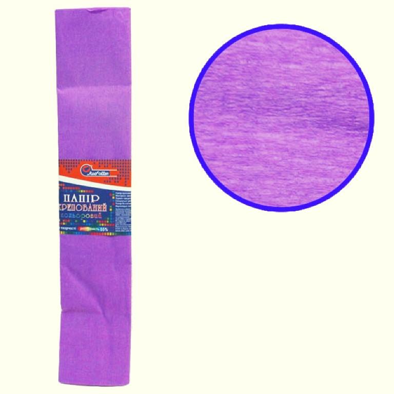 Бумага крепированная цветная 110%, 50х200 см, цвет сиреневый KR110-8021 (10/1)