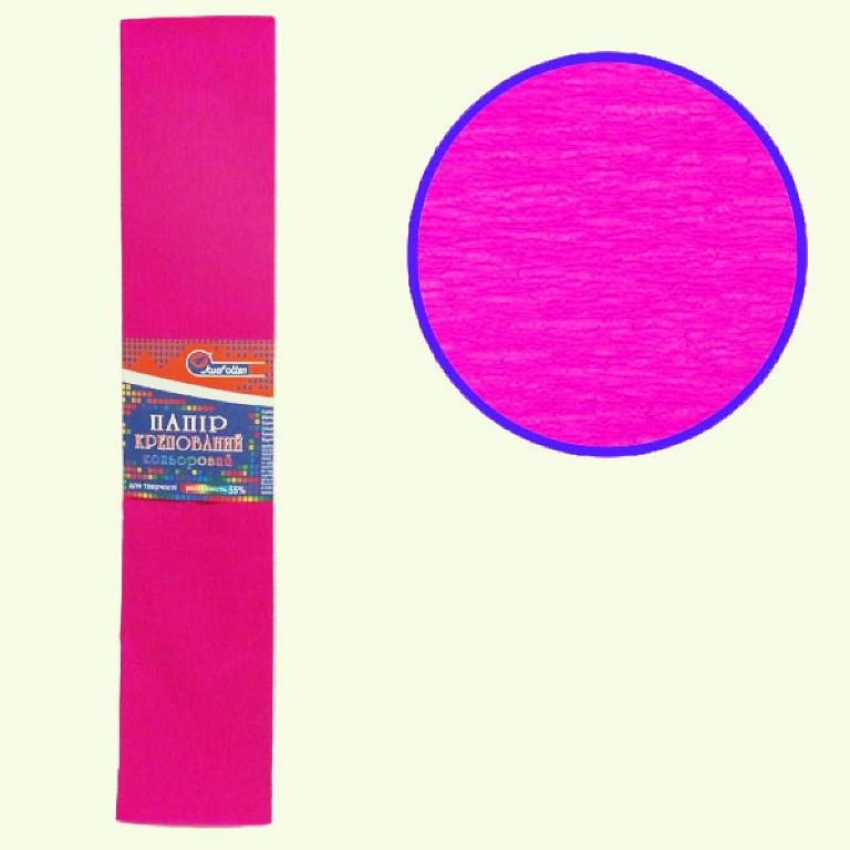 Бумага крепированная цветная 110%, 50х200 см, цвет малиновый KR110-8016 (10/1)