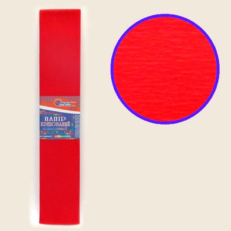 Бумага крепированная цветная 55%, 50*200 см цвет красный KR55-8001 (10/1)