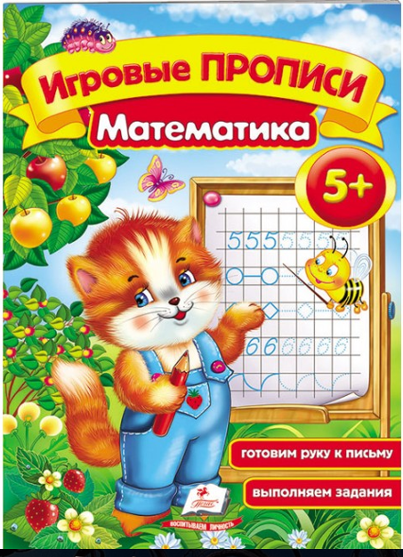 """Прописи игровые А5 """"Математика 5+"""" рус"""