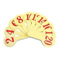 Веер-буквы Цифры, от 1 до 20, желтые К-7371