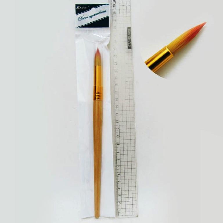 Кисть нейлон круглая (ГОСТ стандарт №10) 10-K-N (10/1)
