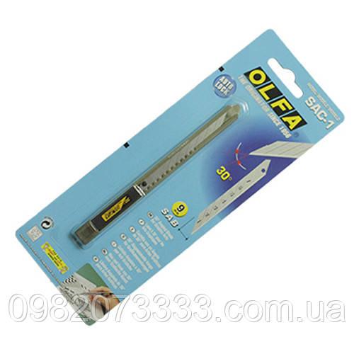 Нож Olfa SAC30 металлический (13см). Для выполнения художественных работ. Острое лезвие с углом 30 градусов