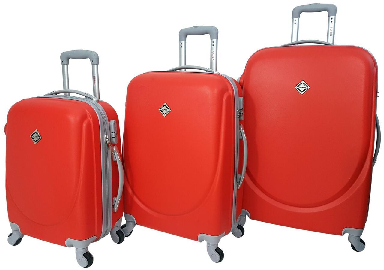 Набір валіз Bonro Smile 3 штуки червоний (10050304)