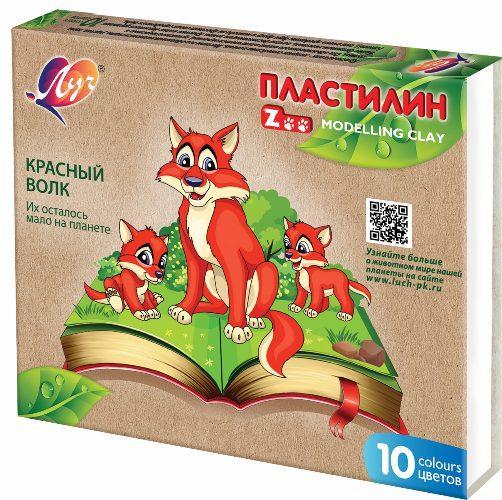 """Пластилин """"Зоо""""Мини"""" 10 цв. 29С1721-08-Луч (20 шт в уп.)"""