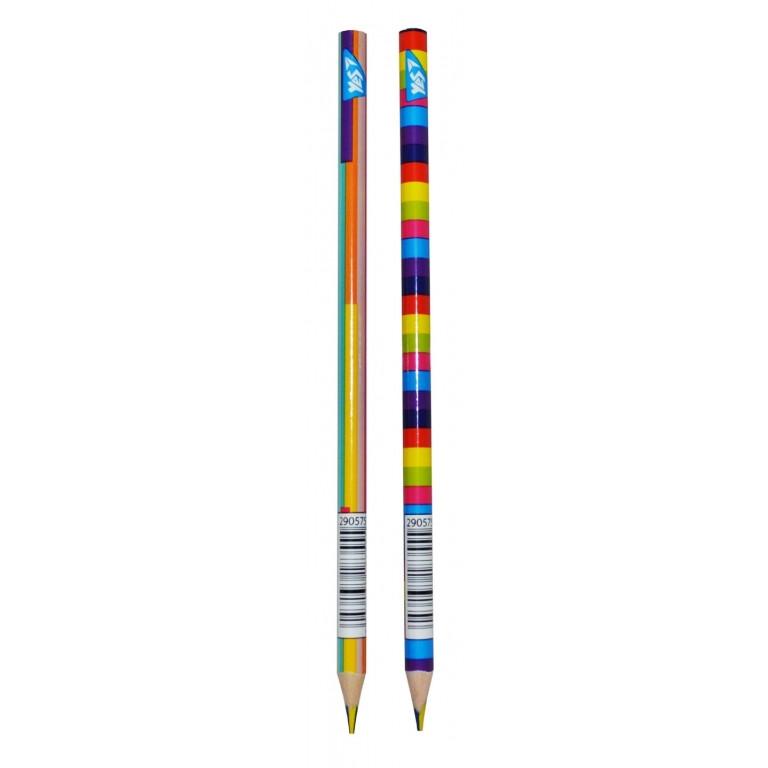 """Карандаш с четырехцветным грифелем YES """"Rainbow"""" в тубе 36 шт 290575 (36/1)"""