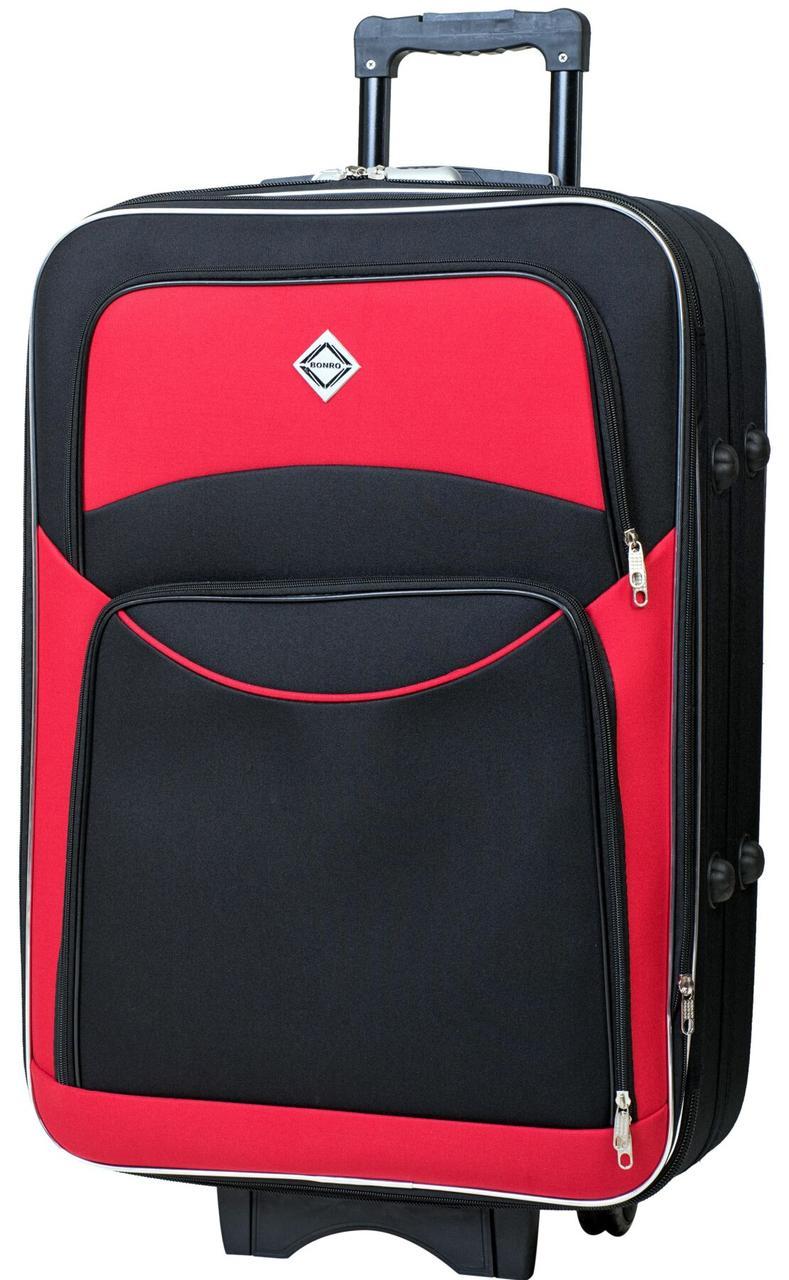 Валіза Bonro Style середня чорно-червона (10012303)