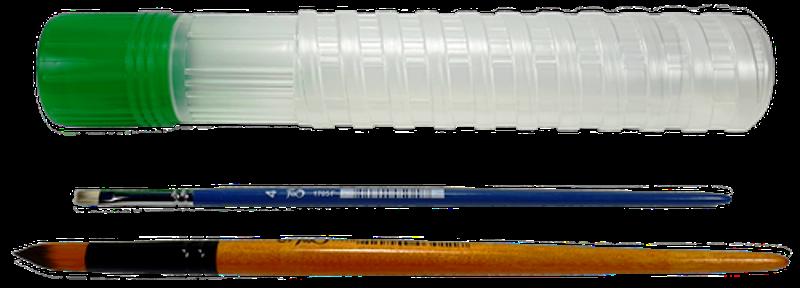 Пенал пластиковый раздвижной для кистей К-4012м тубус d=40мм L=275-380мм с кришкой