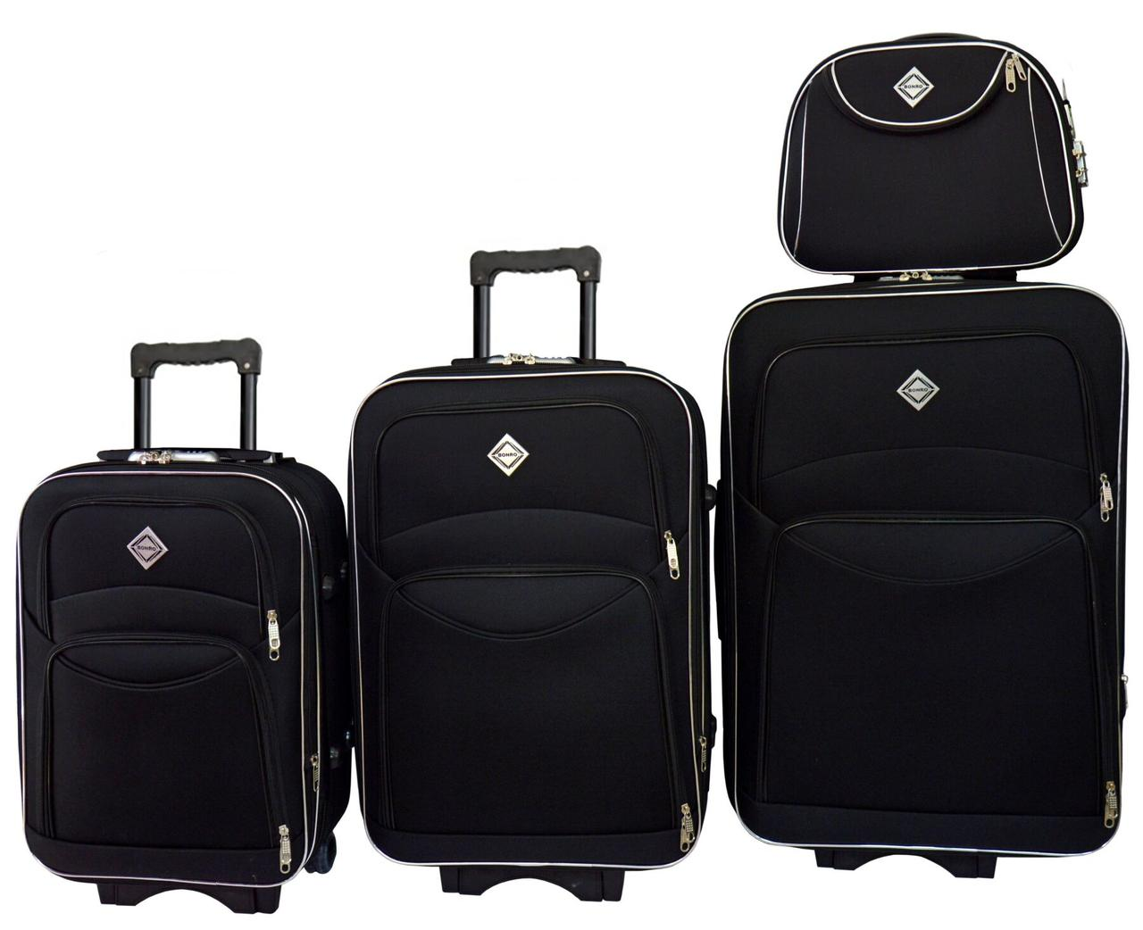 Набір валіз і кейс 4 в 1 Bonro Style чорний (10120400)