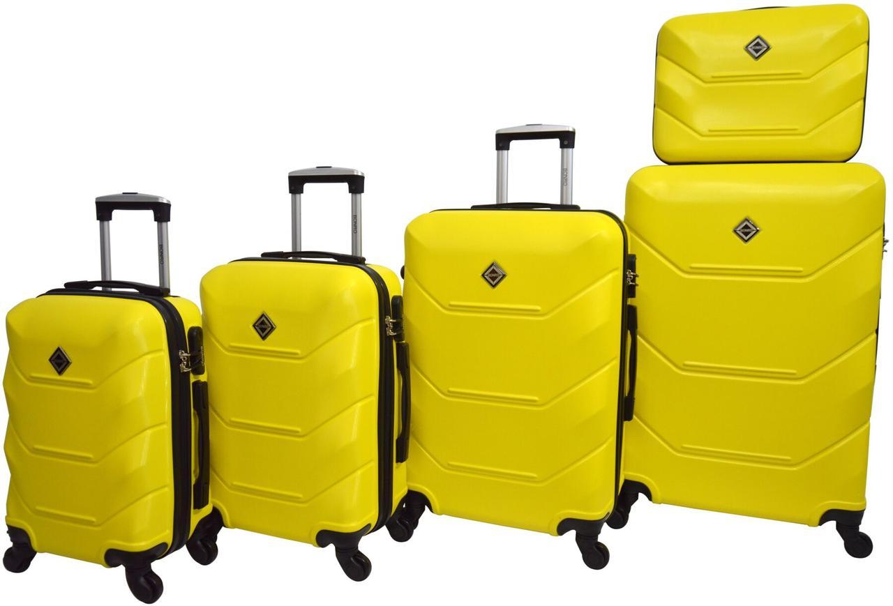 Набір валіз 5 штук Bonro 2019 жовтий (10500100)