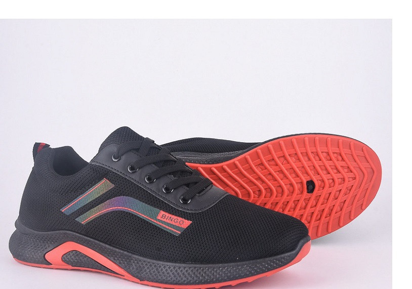 Кроссовки мужские Violeta-45-69-black-red