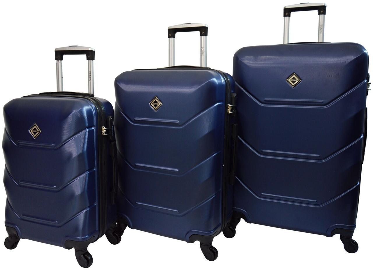 Набір валіз 3 штуки Bonro 2019 темно-синій (10500304)