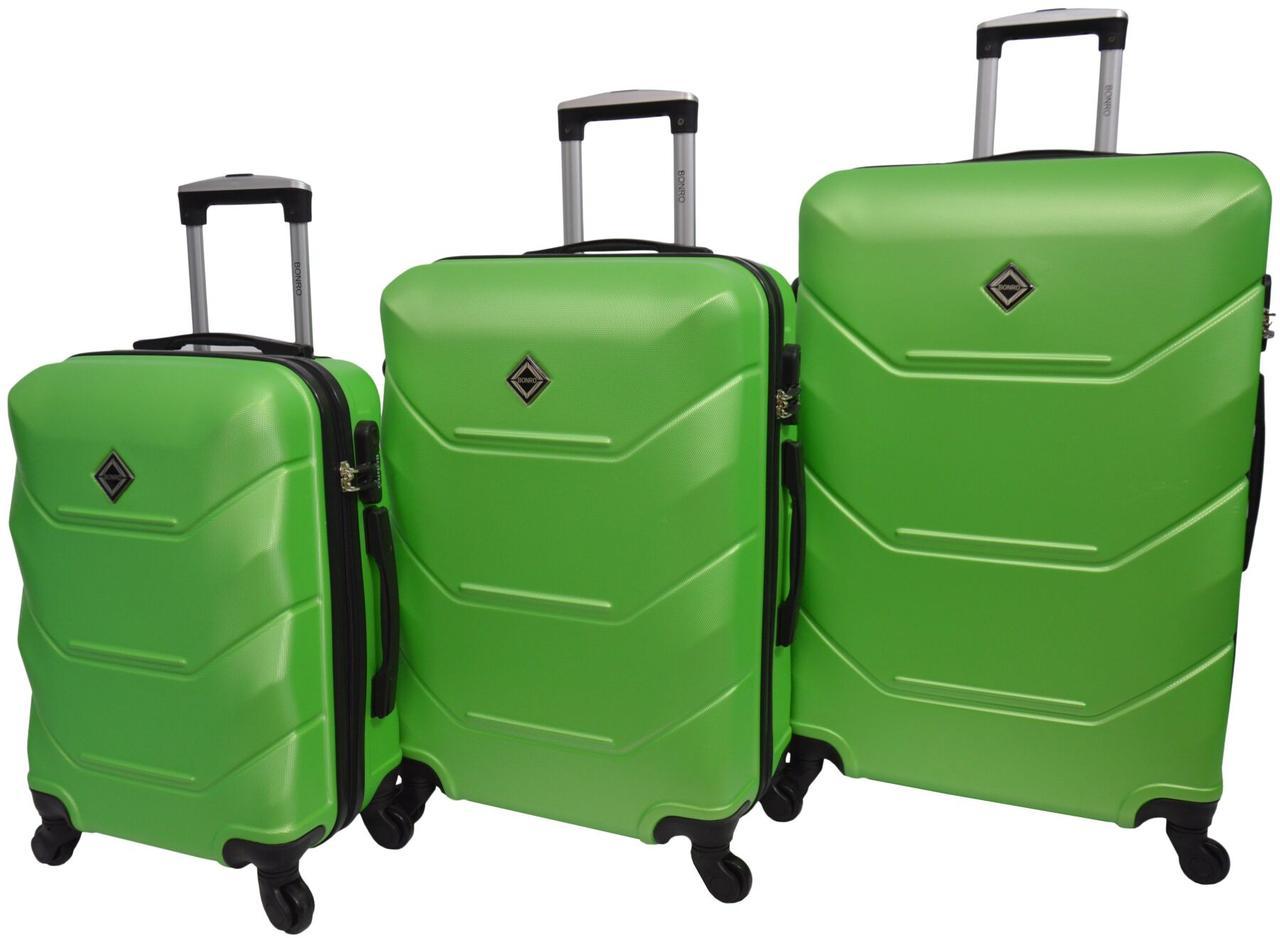 Набір валіз 3 штуки Bonro 2019 салатовий (10500305)