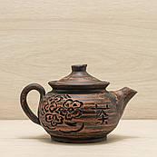 Чайник заварочный из красной глины 0,45л
