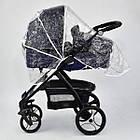 Детская универсальная коляска 2 в 1 трансформер Joy 8682 Jeans + дождевик, фото 4