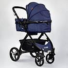 Детская универсальная коляска 2 в 1 трансформер Joy 8682 Jeans + дождевик, фото 3
