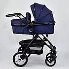 Детская универсальная коляска 2 в 1 трансформер Joy 8682 Jeans + дождевик, фото 2