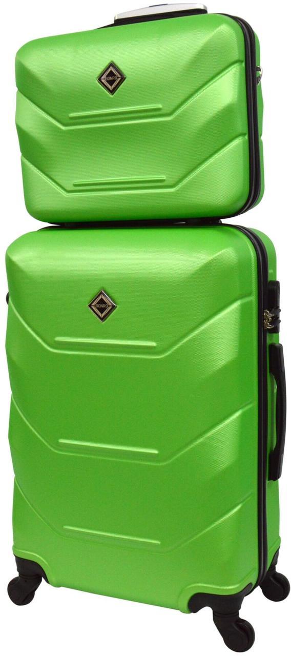 Комплект валіза і кейс Bonro 2019 маленький салатовий (10501005)