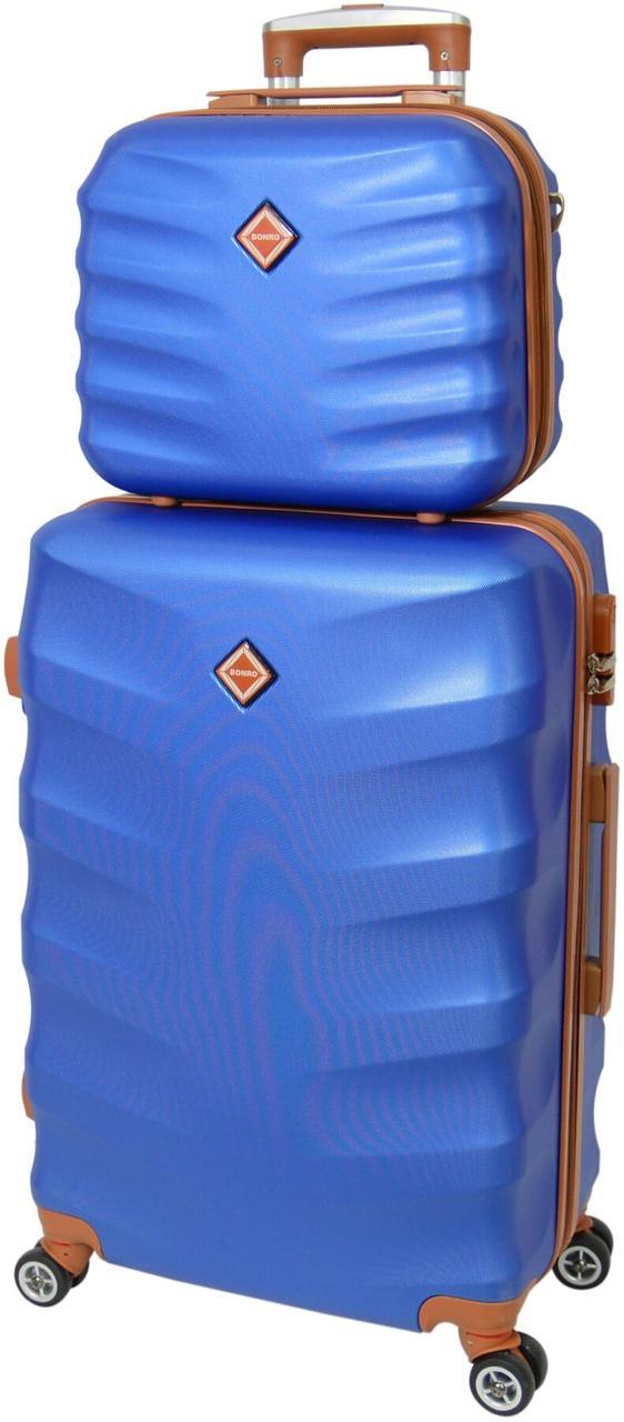 Комплект валіза і кейс Bonro Next маленький синій (10066701)