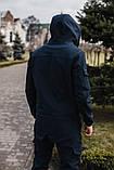 Чоловічий костюм синій демісезонний Softshell Intruder. Куртка чоловіча синя, штани утеплені. Ключниця в подарунок, фото 5