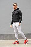 Мужской спортивный костюм черная худи и серые штаны (весна-осень), фото 5