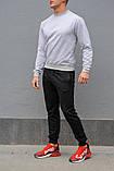 Мужской спортивный костюм - серый свитшот и черные штаны (весна-осень), фото 4