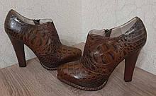 Туфли женские кожаные на каблуке р.36 (23,5см)