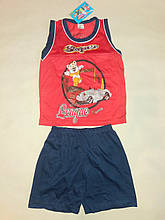 Костюм для хлопчика майка і шорти DL на ріст 98 див. Червоний