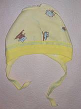 Шапочка на завязках чепчик для мальчика Mine на 0-3 месяца Желтый