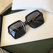 Очки солнцезащитные женские квадратные черный