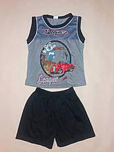 Костюм для хлопчика майка і шорти DL на ріст 80 див. Сірий