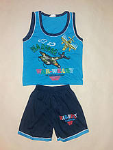 Костюм для хлопчика майка і шорти Mammy Baby на ріст 98 див. Синій