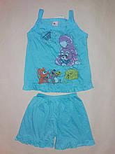 Костюм для дівчинки майка і шорти D&L на ріст 92 див. Блакитний