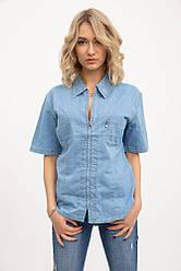 Рубашка женская джинсовая голубая 1934