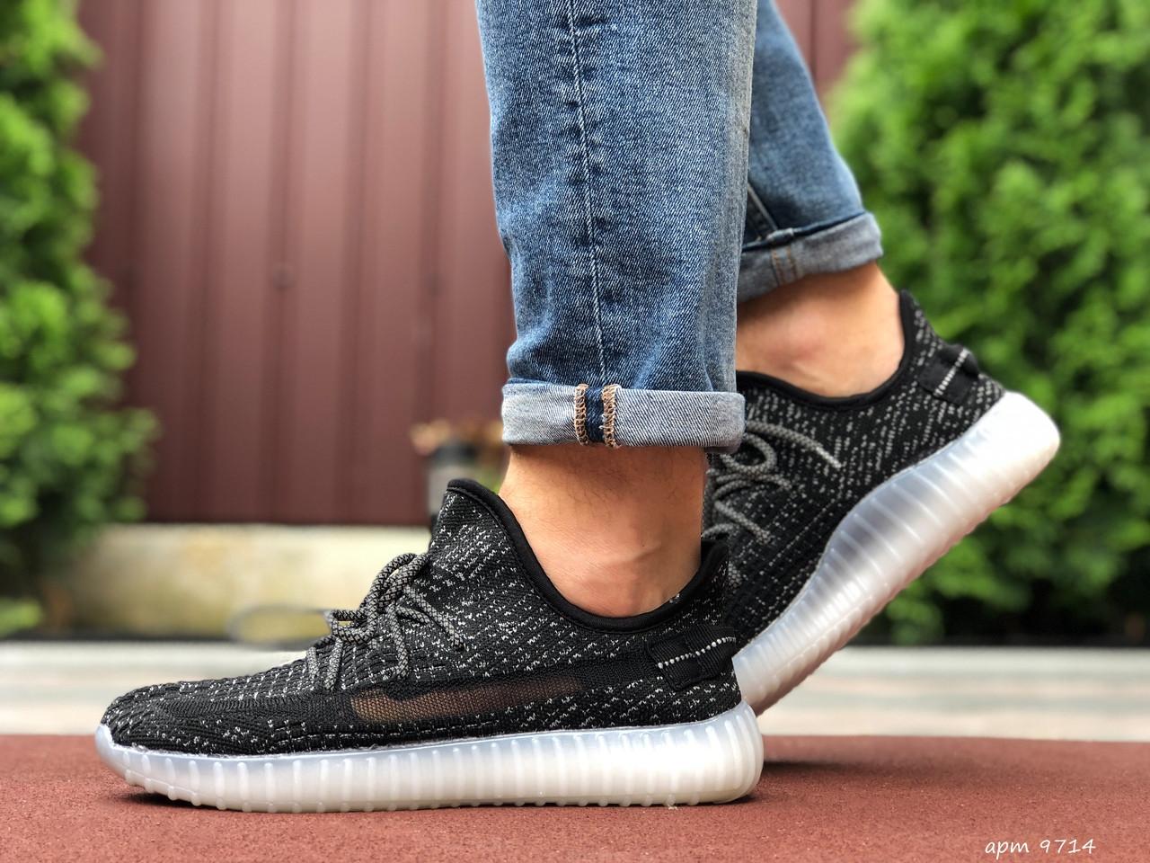 Мужские  кроссовки  Adidas Yeezy черные