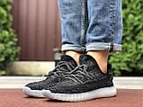 Мужские  кроссовки  Adidas Yeezy черные, фото 3
