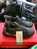 Жіночі кросівки Puma SPORTS чорні з золотими вставками, фото 3