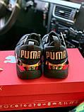 Жіночі кросівки Puma SPORTS чорні з золотими вставками, фото 4