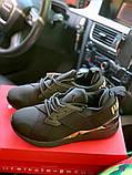 Жіночі кросівки Puma SPORTS чорні з золотими вставками, фото 5