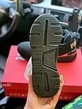 Жіночі кросівки Puma SPORTS чорні з золотими вставками, фото 6