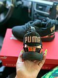 Жіночі кросівки Puma SPORTS чорні з золотими вставками, фото 7