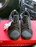 Жіночі кросівки Puma SPORTS чорні з золотими вставками, фото 8