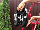 Женские кроссовки  Nike Air Force 1 Shadow черные с белым, фото 2
